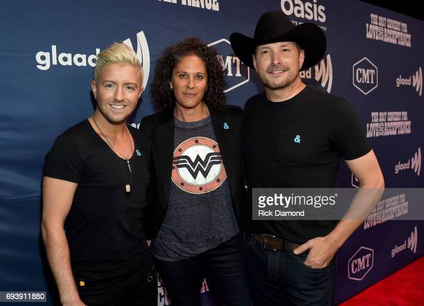 Singer Billy Gilman comedian Dana Goldberg and singer Ty Herndon attend the 2017 Concert for Love Acceptance on June 8 2017 in Nashville Tennessee