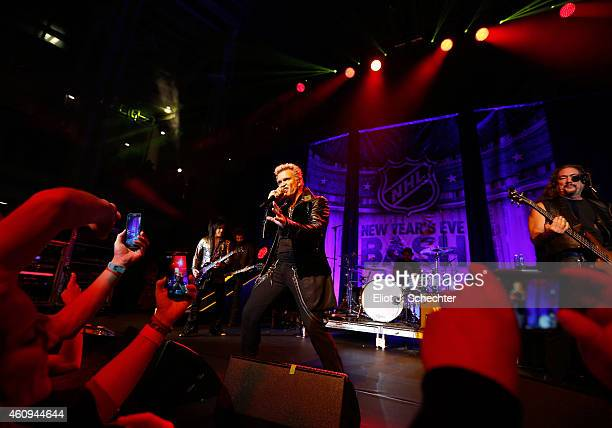 Singer Billy Idol performs at the NHL New Year's Eve BASH prior to the 2015 Bridgestone NHL Winter Classic on December 31 2014 in Washington DC The...