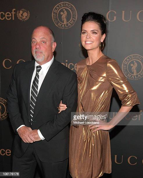 Singer Billy Joel and Katie Lee Joel attend 'A Night To Benefit Raising Malawi UNICEF' hosted by Madonna and Gucci at The United Nation in New York...