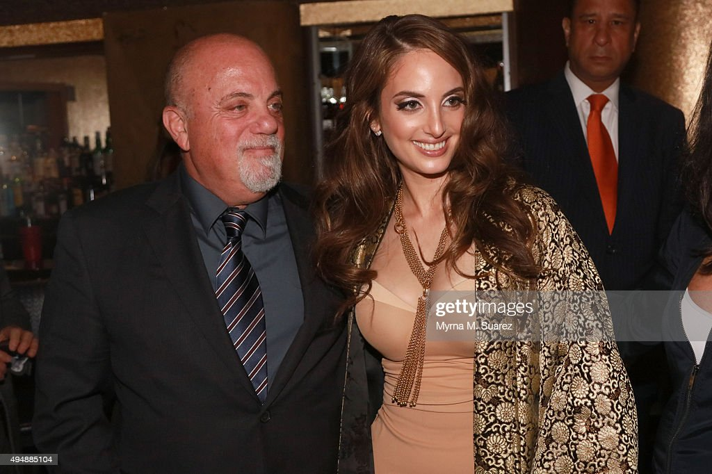 Singer Billy Joel (R) attends his daughter Alex Ray Joel on her sold out performance at Cafe Carlyle on October 29, 2015 in New York City.