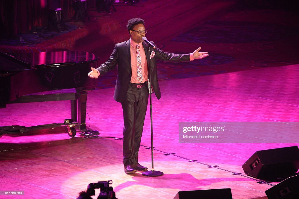 Singer <a gi-track='captionPersonalityLinkClicked' href=/galleries/search?phrase=Billy+Porter&family=editorial&specificpeople=787592 ng-click='$event.stopPropagation()'>Billy Porter</a> performs onstage at the 2013 Actors Fund's Annual Gala honoring Robert De Niro at The New York Marriott Marquis on April 29, 2013 in New York City.
