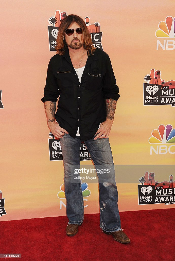 Singer <a gi-track='captionPersonalityLinkClicked' href=/galleries/search?phrase=Billy+Ray+Cyrus&family=editorial&specificpeople=213601 ng-click='$event.stopPropagation()'>Billy Ray Cyrus</a> attends the 2014 iHeartRadio Music Awards held at The Shrine Auditorium on May 1, 2014 in Los Angeles, California.