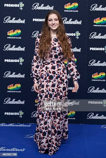 Singer Birdy David Bisbal attends the 40 Principales Awards 2014 photocall at the Barclaycard Center on December 12 2014 in Madrid Spain