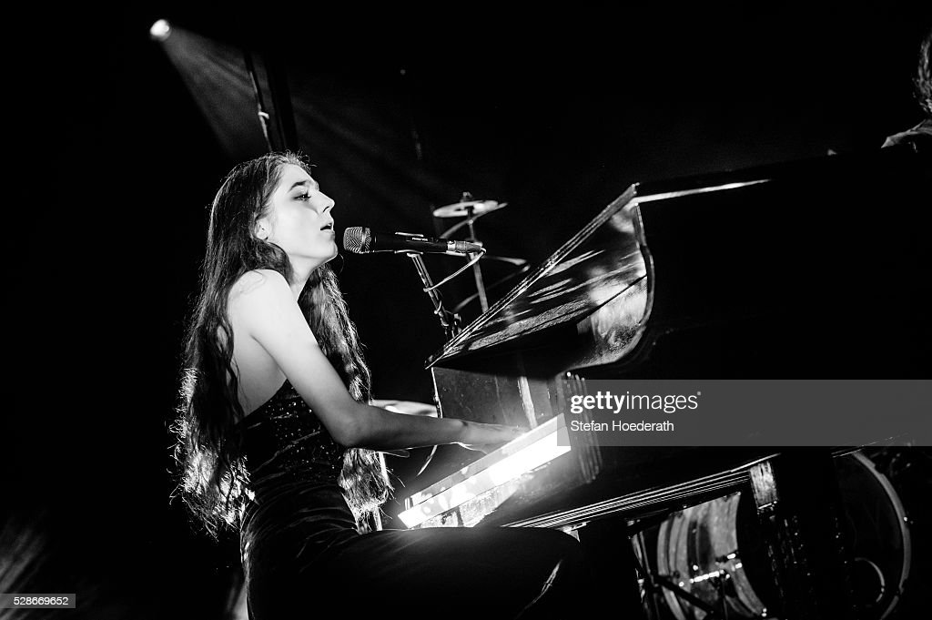 Singer Birdy performs live on stage during a concert on May 06, 2016 in Berlin, Germany.