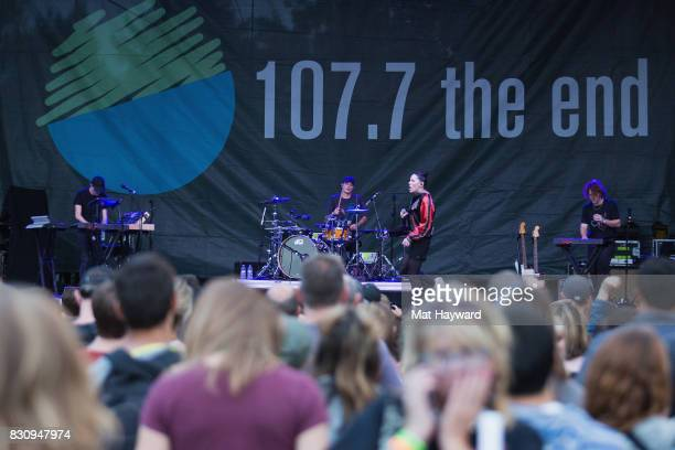 Singer Bishop Briggs performs on stage during the Summer Camp music festival hosted by 1077 The End at Marymoor Park on August 12 2017 in Redmond...