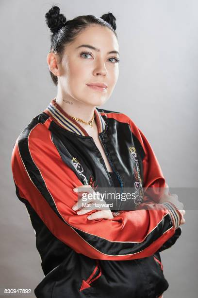 Singer Bishop Briggs poses for a portrait backstage during the Summer Camp Music Festival hosted by 1077 the End at Marymoor Park on August 12 2017...