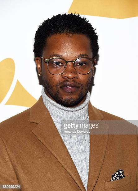 Singer BJ the Chicago Kid arrives at The Recording Academy Los Angeles Chapter's celebration honoring the nominees of the 59th GRAMMY Awards at Fig...