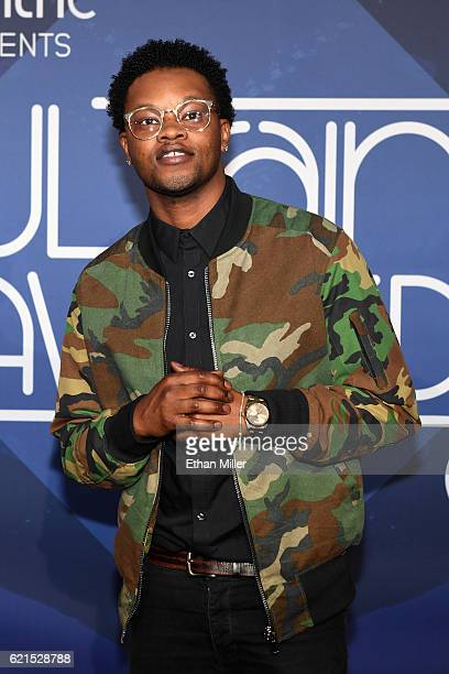 Singer BJ the Chicago Kid attends the 2016 Soul Train Music Awards at the Orleans Arena on November 6 2016 in Las Vegas Nevada