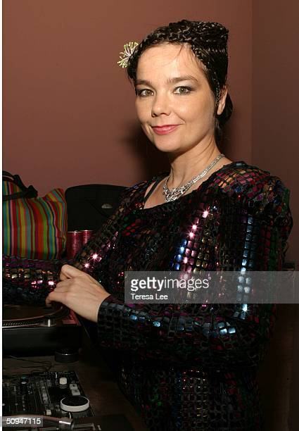 Singer Bjor kDJs for Index Magazine 's private party at 168 Delancey Street on June 9 2004 in New York City