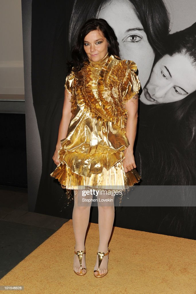 Singer Bjork attends the closing of Marina Abramovic's 'The Artist is Present' hosted by Givenchy at The Museum of Modern Art on June 1, 2010 in New York City.