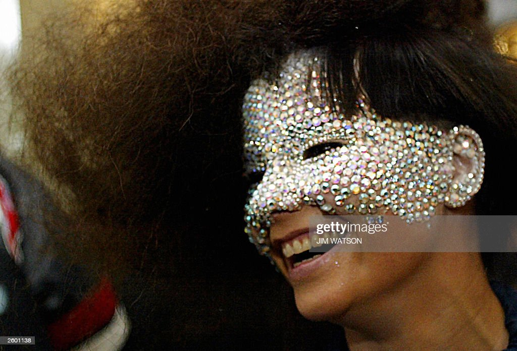 Singer Bjork smiles during the reception at the 'Fashion Rocks' concert and fashion show 15 October 2003 in aid of The Prince's Trust at the Royal Albert Hall in London. AFP PHOTO/POOL/Jim WATSON