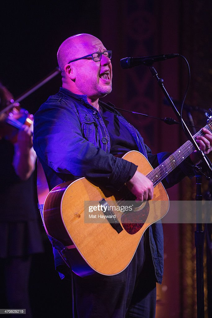 Singer Black Francis of the Pixies performs on stage during an EndSession hosted by 107.7 The End at the Triple Door Theater on February 19, 2014 in Seattle, Washington.