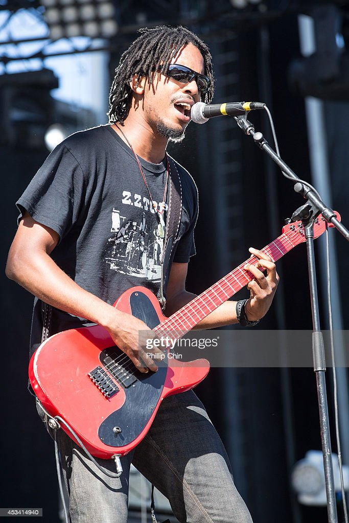 Singer Black Joe Lewis performs at the Squamish Valley Music Festival on August 9, 2014 in Squamish, Canada.