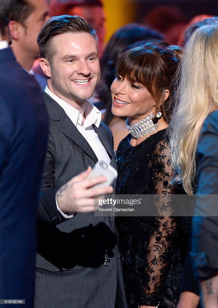 Singer Blake Lewis and recording artist Paula Abdul celebrate onstage during FOX's 'American Idol' Finale For The Farewell Season at Dolby Theatre on April 7, 2016 in Hollywood, California. at Dolby Theatre on April 7, 2016 in Hollywood, California.