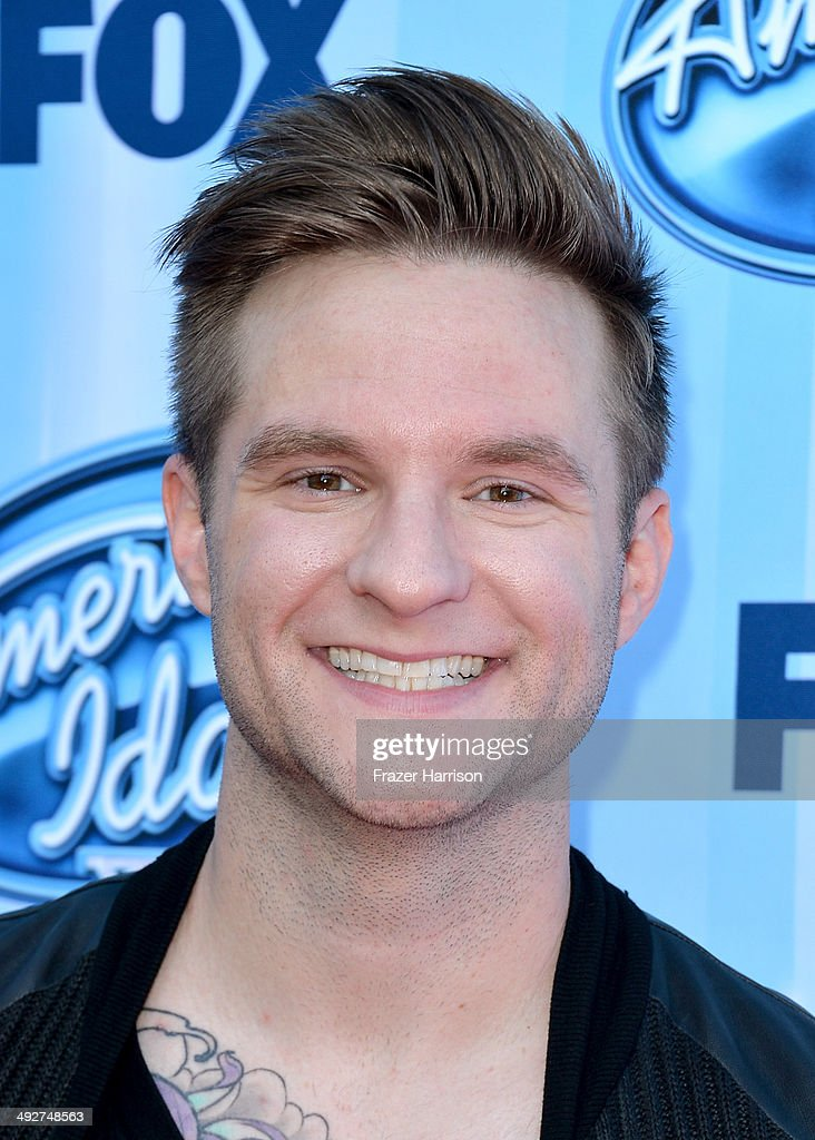 Singer <a gi-track='captionPersonalityLinkClicked' href=/galleries/search?phrase=Blake+Lewis&family=editorial&specificpeople=4165758 ng-click='$event.stopPropagation()'>Blake Lewis</a> attends Fox's 'American Idol' XIII Finale at Nokia Theatre L.A. Live on May 21, 2014 in Los Angeles, California.