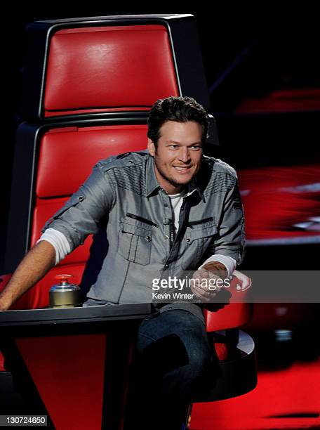 Singer Blake Shelton appears at a press junket for NBC's 'The Voice' at Sony Studios on October 28 2011 in Culver City California