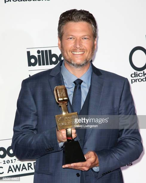 Singer Blake Shelton attends the press room at the 2017 Billboard Music Awards at TMobile Arena on May 21 2017 in Las Vegas Nevada
