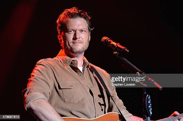Singer Blake Shelton performs onstage during day 1 of the Big Barrel Country Music Festival on June 26 2015 in Dover Delaware