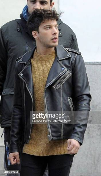 Singer Blas Canto is seen on January 13 2017 in Madrid Spain