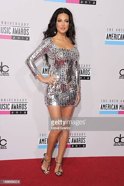 Singer Bleona attends the 40th Anniversary American Music Awards held at Nokia Theatre LA Live on November 18 2012 in Los Angeles California