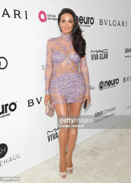 Singer Bleona Qereti attends Bulgari at the 25th Annual Elton John AIDS Foundation's Academy Awards Viewing Party at on February 26 2017 in Los...