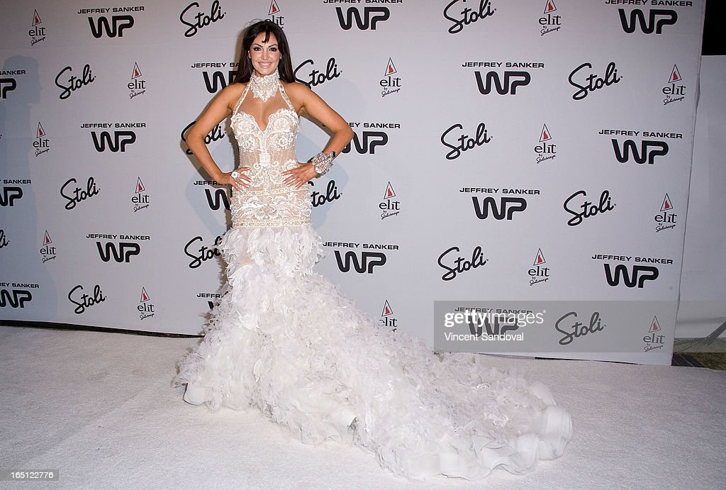 Singer Bleona Qereti attends The White Party during Jeffrey Sanker Presents White Party Palm Springs 2013 - Day 2 at the Convention Center on March 30, 2013 in Palm Springs, California.