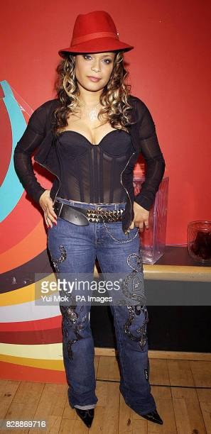 Singer Blu Cantrell during her guest appearance on MTV's TRL UK at the MTV Studios in Camden north London