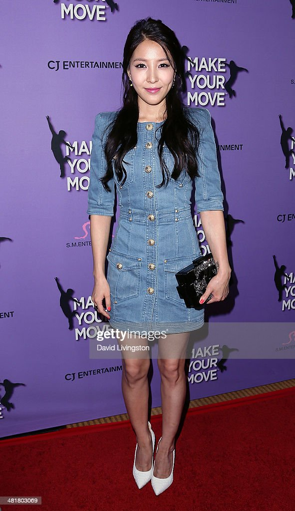 Singer BoA attends a screening of 'Make Your Move' at Pacific Theatre at The Grove on March 31, 2014 in Los Angeles, California.