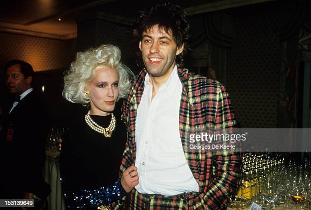 Singer Bob Geldof and his girlfriend Paula Yates on August 1985