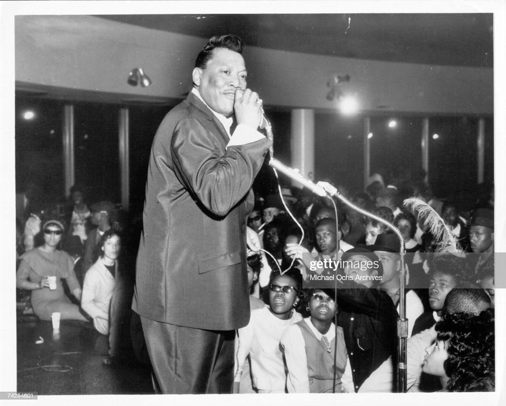 Singer Bobby 'Blue' Bland performs for an audience in circa 1964 in Houston Texas