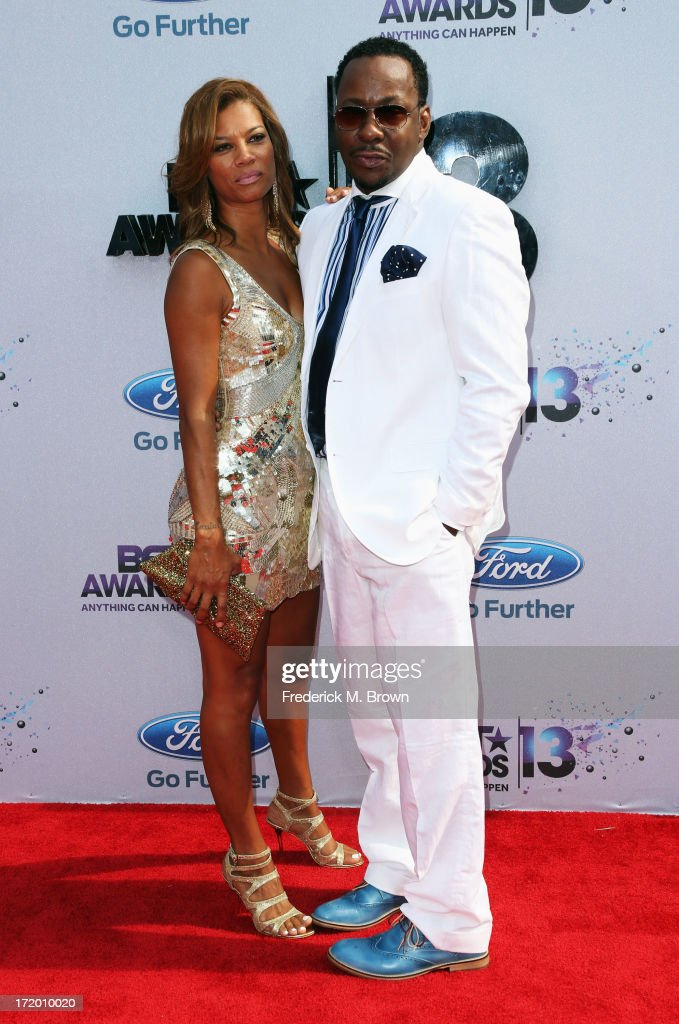Singer Bobby Brown (R) and Alicia Etheridge attend the 2013 BET Awards at Nokia Theatre L.A. Live on June 30, 2013 in Los Angeles, California.