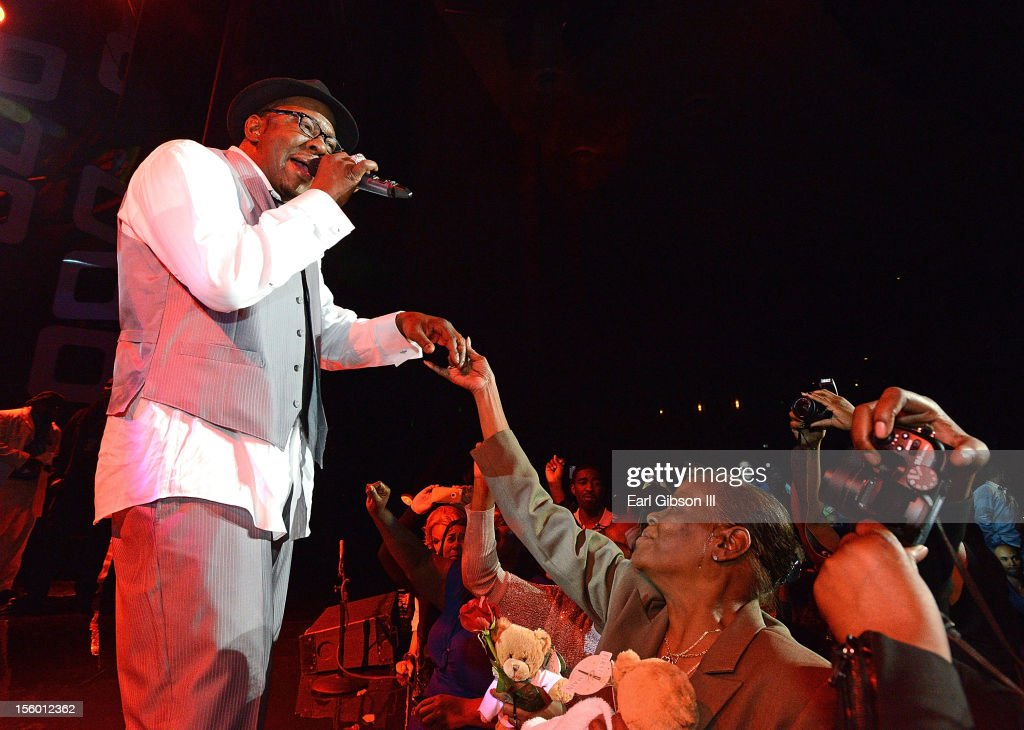 Singer Bobby Brown performs with New Edition at Soul Train Awards Weekend Live in Concert at PH Live at Planet Hollywood Resort & Casino on November 10, 2012 in Las Vegas, Nevada.