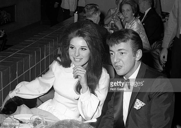 Singer Bobby Darin and Bobbie Gentry attend the premiere of 'Dr Dolittle' on December 19 1967 at Loew's State Theater in New York City