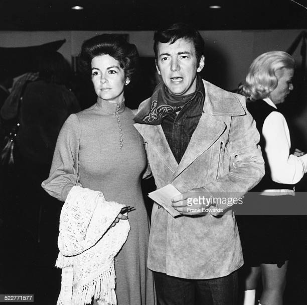 Singer Bobby Darin and his wife Andrea Yeager attending a share party charity gala at Santa Monica Civic Auditorium California circa 1973