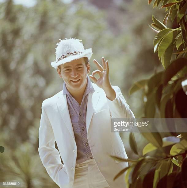 Singer Bobby Darin Giving Okay Sign