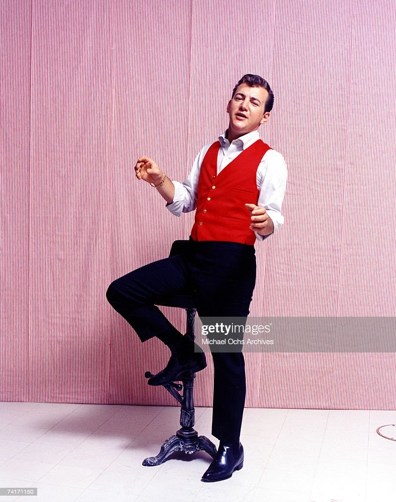 Singer Bobby Darin poses during an August 1963 photo session in Los Angeles California