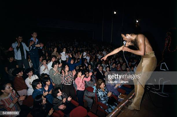 Singer Bobby Farrell from the West disco pop band Boney M in concert in Beirut