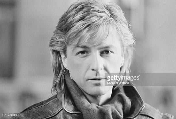 Singer Bobby G of British pop group Bucks Fizz on the set of a video shoot for the single 'I Hear Talk' November 1984