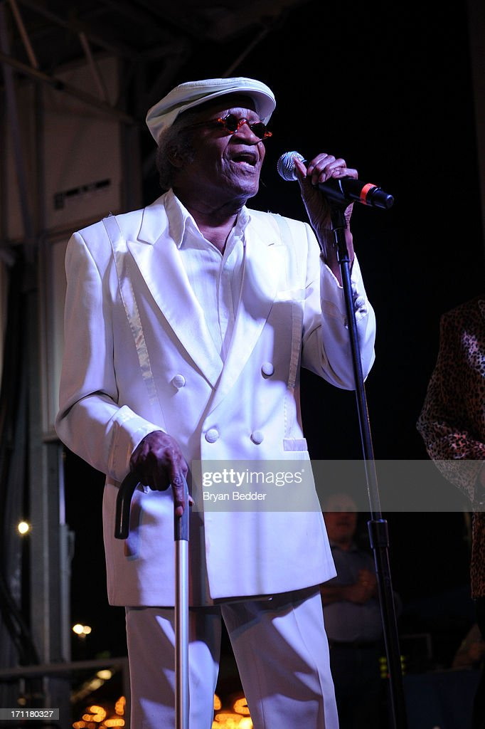 Singer Bobby Lewis performs onstage at the Cousin Brucie's First Annual Palisades Park Reunion presented by SiriusXM on June 22, 2013 in East Rutherford, New Jersey.