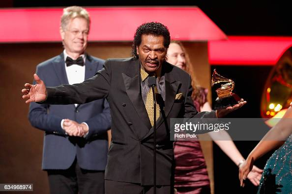 Singer Bobby Rush accepts the Best Traditional Blues Album award for 'Porcupine Meat' onstage at the Premiere Ceremony during the 59th GRAMMY Awards...