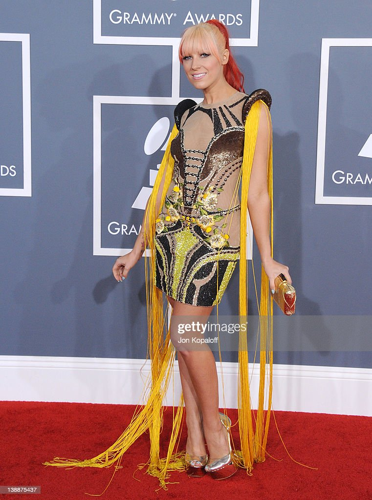 Singer Bonnie McKee arrives at 54th Annual GRAMMY Awards held the at Staples Center on February 12, 2012 in Los Angeles, California.
