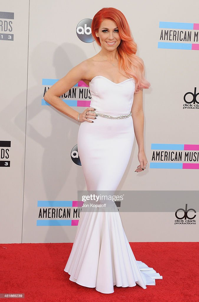 Singer Bonnie McKee arrives at the 2013 American Music Awards at Nokia Theatre LA Live on November 24 2013 in Los Angeles California