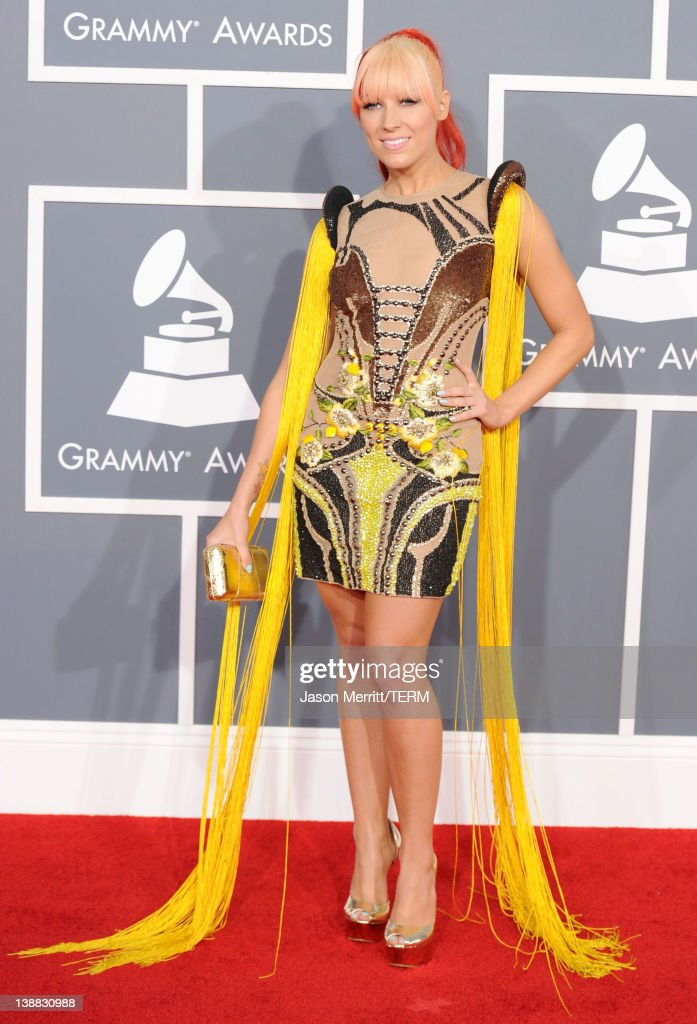Singer Bonnie Mckee arrives at the 54th Annual GRAMMY Awards held at Staples Center on February 12 2012 in Los Angeles California