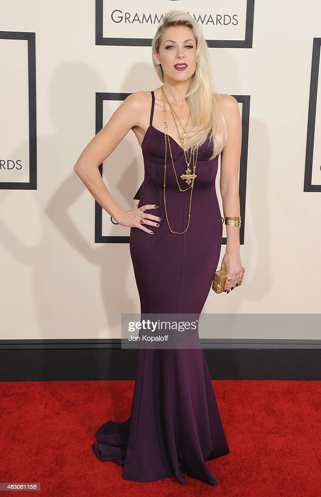 Singer Bonnie McKee arrives at the 57th GRAMMY Awards at Staples Center on February 8 2015 in Los Angeles California