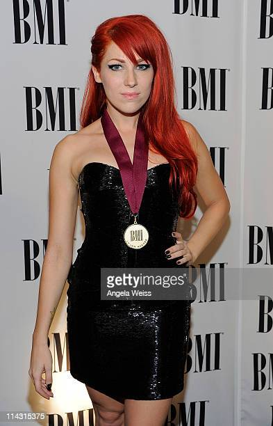 Singer Bonnie McKee arrives to the 59th Annual BMI Pop Awards at the Beverly Wilshire Four Seasons Hotel on May 17 2011 in Beverly Hills California