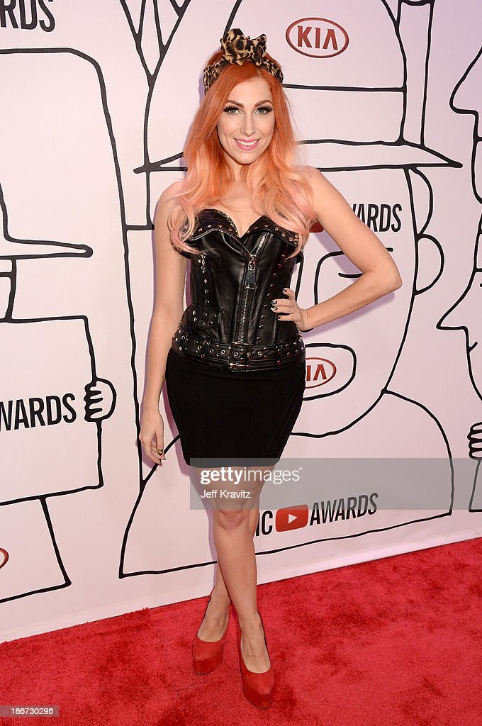 Singer <a gi-track='captionPersonalityLinkClicked' href=/galleries/search?phrase=Bonnie+McKee&family=editorial&specificpeople=240200 ng-click='$event.stopPropagation()'>Bonnie McKee</a> attends the YouTube Music Awards 2013 on November 3, 2013 in New York City.
