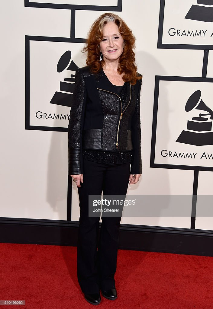 Singer Bonnie Raitt attends The 58th GRAMMY Awards at Staples Center on February 15, 2016 in Los Angeles, California.