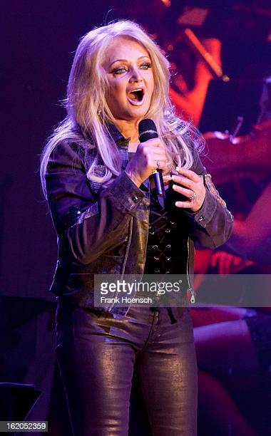 Singer Bonnie Tyler performs live during 'Rock meets Classic 2013' at the MaxSchmelingHalle on February 18 2013 in Berlin Germany