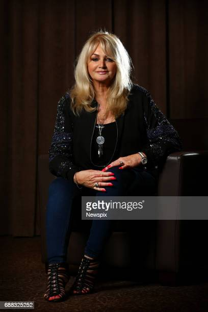 Singer Bonnie Tyler poses during a photo shoot on the Gold Coast Queensland