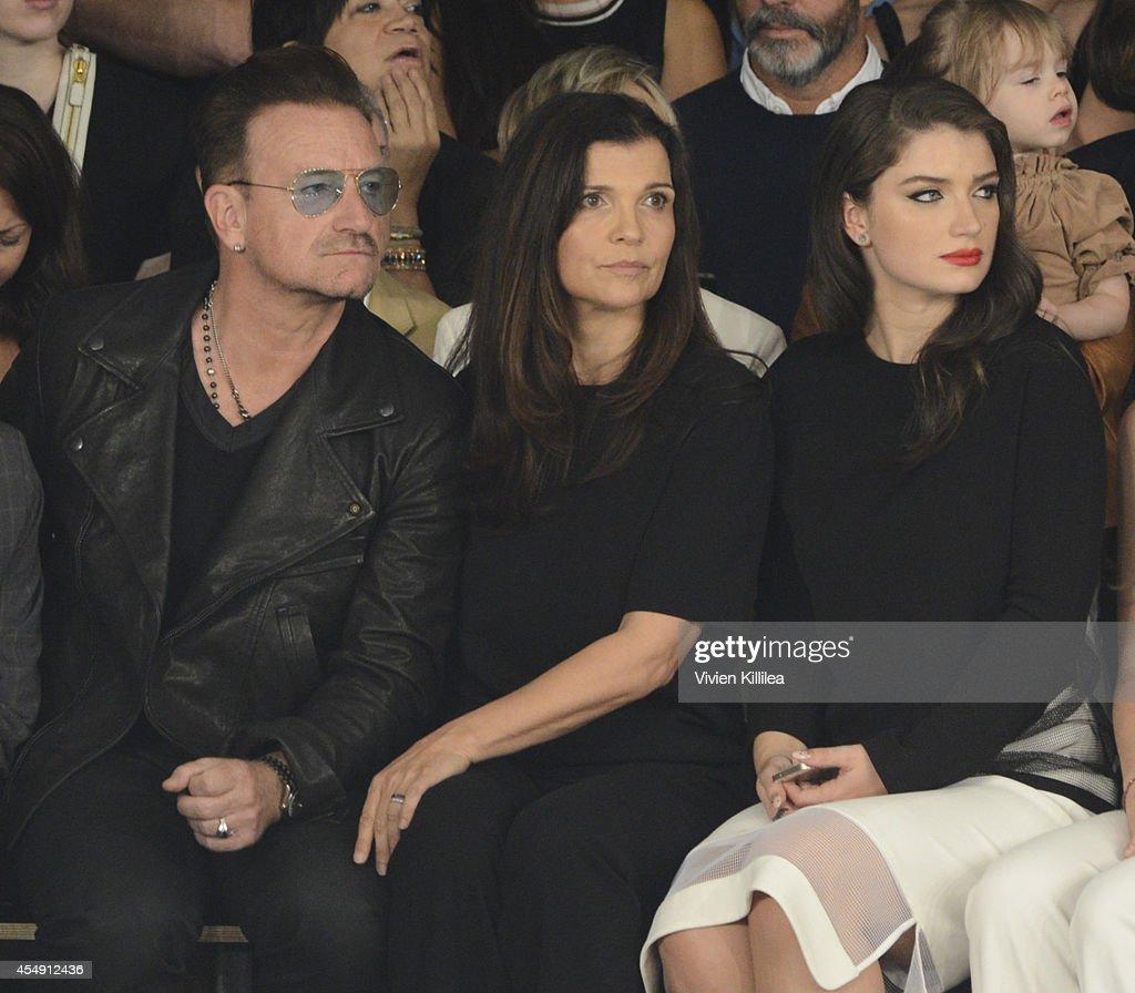 Singer Bono Ali Hewson and Eve Hewson attend the Edun fashion show during MercedesBenz Fashion Week Spring 2015 at Skylight Modern on September 7...